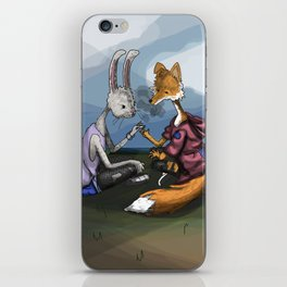 fox and the hare iPhone Skin