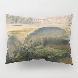 Vintage Scientific illustration, c. 1880 (Manatees) Pillow Sham