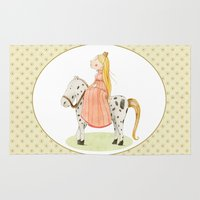 princess Area & Throw Rugs featuring Princess by Judith Loske