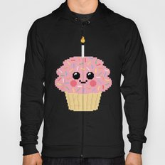 Happy Pixel Cupcake Hoody
