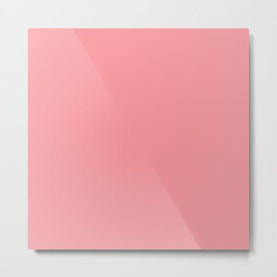 Tropical Coral Pink Metal Print