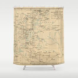 Vintage Map of Ethiopia (1919) Shower Curtain