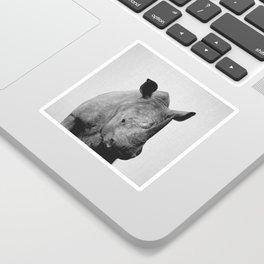 Rhino - Black & White Sticker