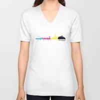 edinburgh V-neck T-shirts featuring Edinburgh CMYK by Kamero Designs