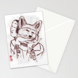 Kitsune Portrait Stationery Cards