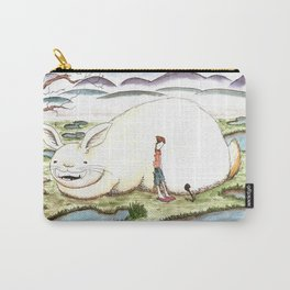 Bunny and Girl Carry-All Pouch