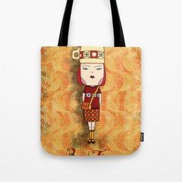 Red Tea Girl Tote Bag