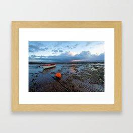 Distant rain Framed Art Print