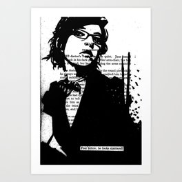 He Looks Shattered Art Print
