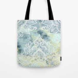 MANDALA ON MARBLE Tote Bag