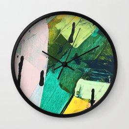 Hopeful[4] - a bright mixed media abstract piece Wall Clock