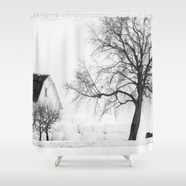 Winter on the Farm Shower Curtain