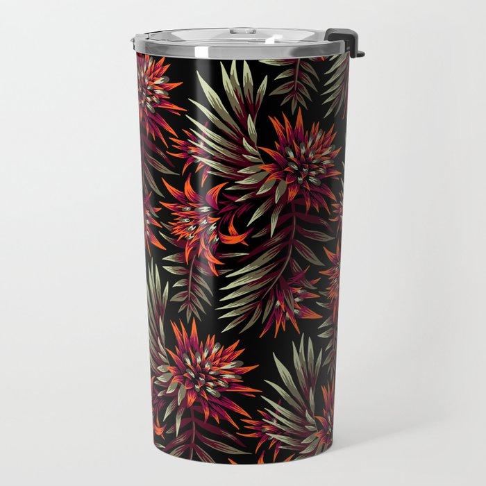 Aechmea Fasciata - Dark Orange / Purple Travel Mug