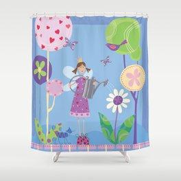 Fairy in the Garden Shower Curtain