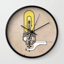 patent - Edison - Electric Lights - 1880 Wall Clock