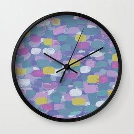 Confetti Cake - Muted Tones Wall Clock