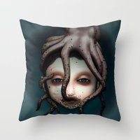 misfits Throw Pillows featuring Misfits - Andromeda by Raymond Sepulveda