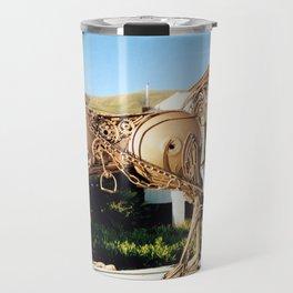Horse & Plough by Shimon Drory Travel Mug