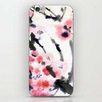 sakura iPhone & iPod Skins featuring Sakura by Nina