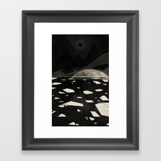 the white shore Framed Art Print