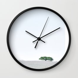 Whitewashed Wall Clock