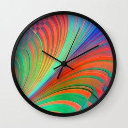 Pattern Stripes and rhombs Wall Clock