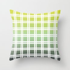 Green Weaver Throw Pillow