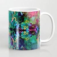 fireworks Mugs featuring Fireworks by Yaz Raja Designs