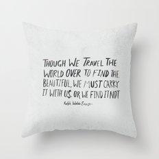 Ralph Waldo Emerson: Beautiful Throw Pillow