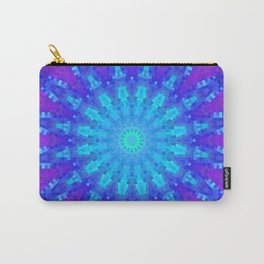 Violet Mandala Mosaic Carry-All Pouch