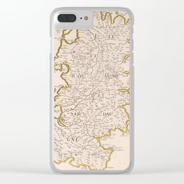 Vintage Sardinia Italy Map (1697) Clear iPhone Case