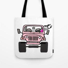 Jeep Wave Pink - Girl Tote Bag
