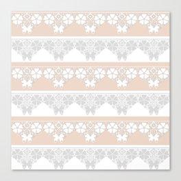 Peach-colored lace . Canvas Print