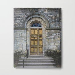 In the Door series, from my street photography collection of doors Metal Print