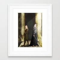 legolas Framed Art Prints featuring Legolas & Thranduil by rdjpwns