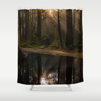 vancouver Shower Curtains featuring Vancouver Woods by Sierra Whiskey Bravo