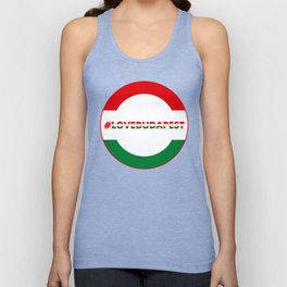 Hashtag Love Budapest, circle, color Unisex Tank Top