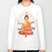 buddha Long Sleeve T-shirts featuring Buddha by O. Be