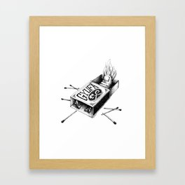 Combustible Thumb for dark tees Framed Art Print