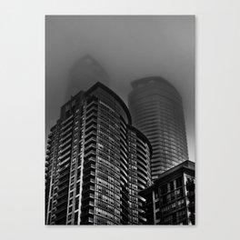 Downtown Toronto Fogfest No 22 Canvas Print