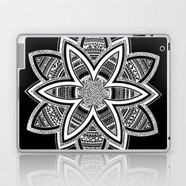 wholeness white mandala on black Laptop & iPad Skin