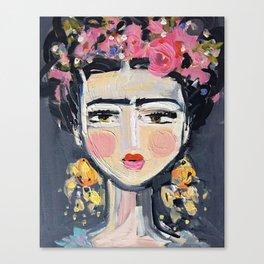 Portrait Inspired by Frida Leinwanddruck