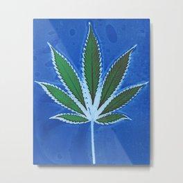 Hemp Lumen #8 Leaf Marijuana/Cannabis/Weed Metal Print