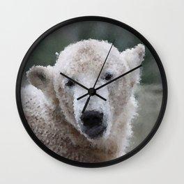 Poly Animals - Polar Bear Wall Clock
