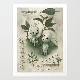 Natural Histories - Forest Spirit studies Art Print