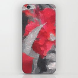 Partial Color Red Lilies iPhone Skin