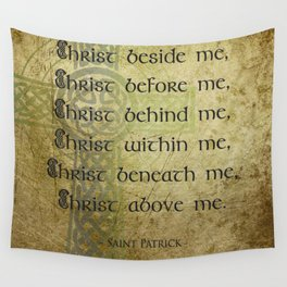 Christ Before Me ~ St. Patrick Wall Tapestry