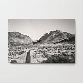 The Lost Highway III Black & White Metal Print