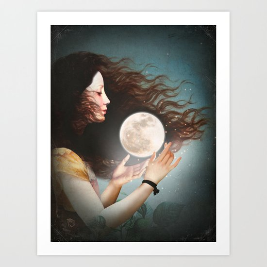 Meet the Moon Art Print