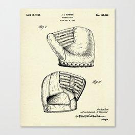 Baseball Mitt-1945 Canvas Print